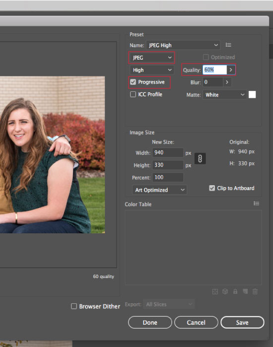How to Save Images for Web in Illustrator